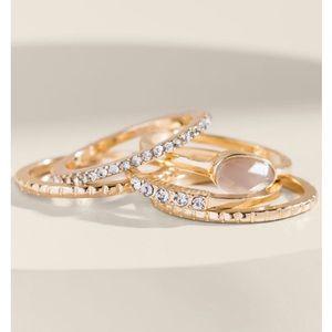 Francesca's Kathleen Stacking Ring Set Lavender